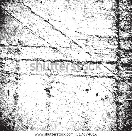 Distressed Overlay Texture. Empty grunge background for making aged your design. EPS10 vector.