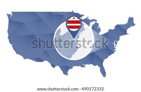 District Of Columbia Map Banco de imgenes Fotos y vectores
