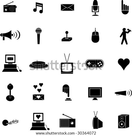 diverse symbol set twelve - stock vector