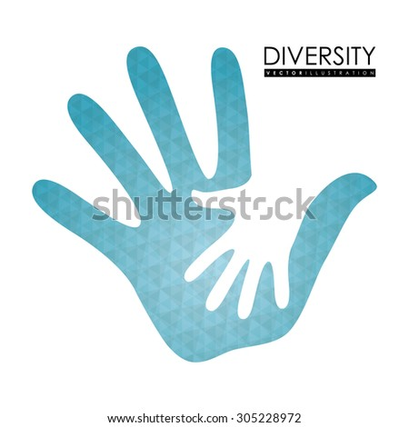 Diversity people design, vector illustration eps 10. - stock vector