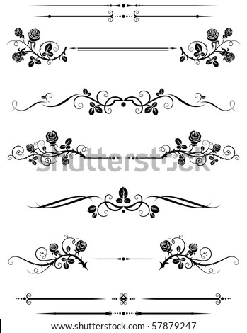 Dividers and borders - stock vector