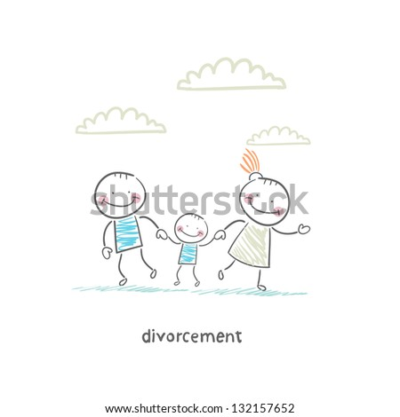 divorcement - stock vector