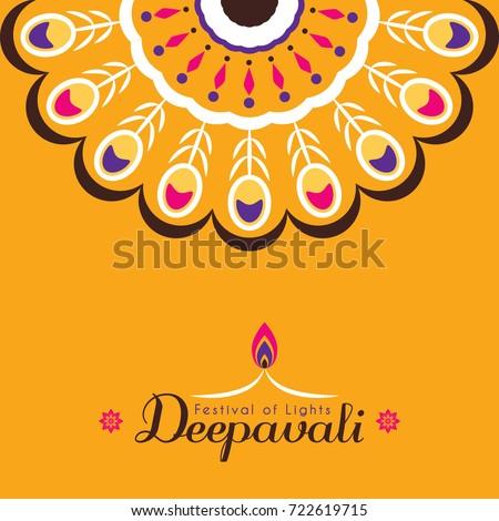 Diwali deepavali greeting card template design stock vector diwali or deepavali greeting card template design diwali pattern design element festival of lights m4hsunfo