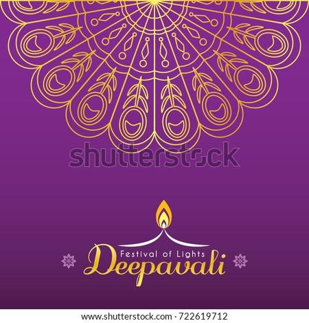 Diwali deepavali greeting card template design stock vector royalty diwali or deepavali greeting card template design diwali pattern design element in gold color m4hsunfo