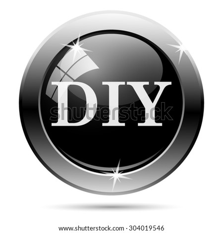 DIY icon. Internet button on white background. EPS10 vector  - stock vector