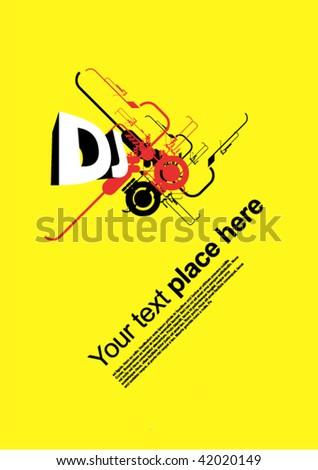 dj - stock vector