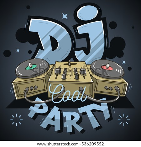 Dj Cool Party Design Event Poster Stock Vector 531889105 - Shutterstock