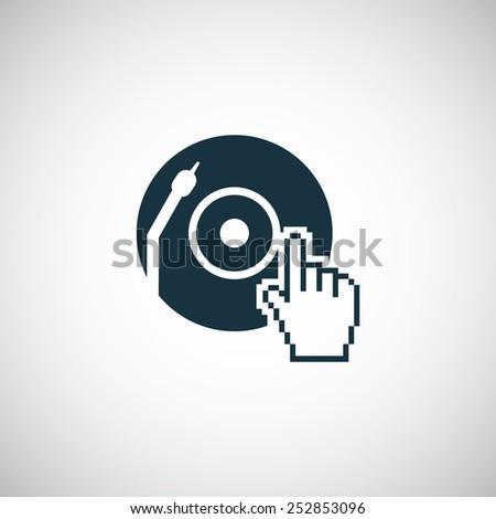 dj icon, on white background - stock vector