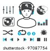 DJ`s set - stock vector