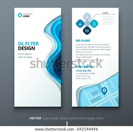 Flyer template stock images royalty free images vectors for Dl brochure template