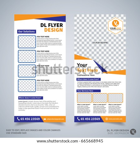 Dl Flyer Design Template Dl Corporate Stock Vector 665668945