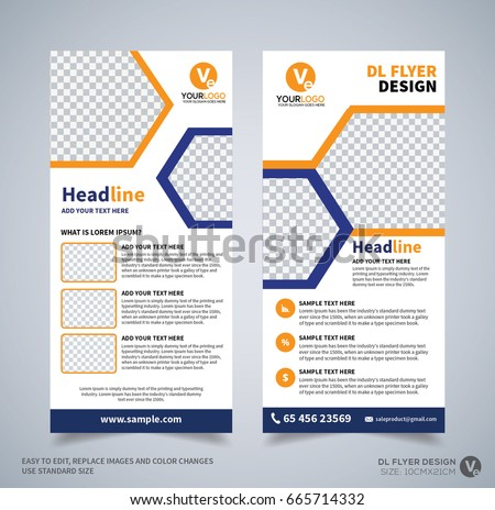 Dl Flyer Design Template Dl Corporate Stock Vector 665714332