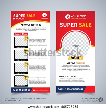 Dl Flyer Design Template Dl Corporate Stock Vector 665723935