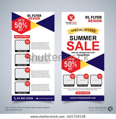 Dl Flyer Design Template Dl Corporate Stock Vector 665724538