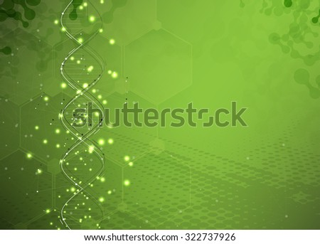 DNA Abstract background collection. Futuristic technology interface. Vector format