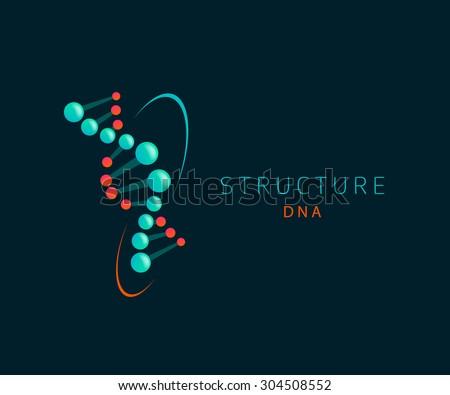 dna abstract icon, logo design template - stock vector