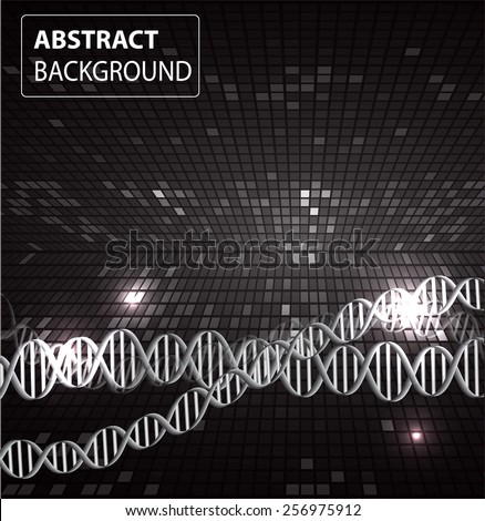 DNA background. molecular structure of planar elements. vector. black Light Abstract Technology background for computer graphic website internet and business. text box. Tables, mosaic - stock vector