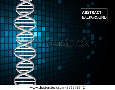 DNA background. molecular structure of planar elements. vector. blue Light Abstract Technology background for computer graphic website internet and business. text box. Tables, mosaic