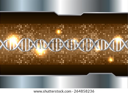 DNA background. molecular structure of planar elements. vector. brown Light Abstract Technology background for computer graphic website internet and business. silver. Pixel, mosaic, table - stock vector