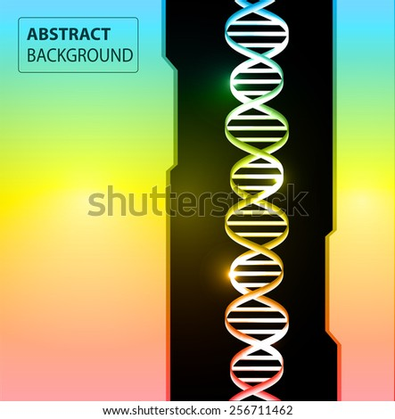 DNA background. molecular structure of planar elements. vector. Light Abstract Technology background for computer graphic website internet and business. text box. colorful background. - stock vector