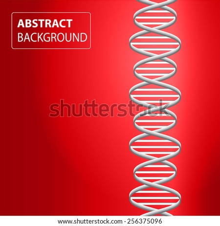 DNA background. molecular structure of planar elements. vector. red Light Abstract Technology background for computer graphic website internet and business. text box. - stock vector