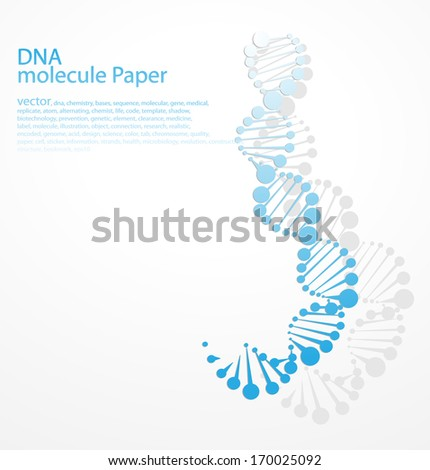 DNA molecular structure of planar elements - stock vector