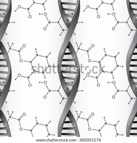 DNA molecule structure background. Science and biotechnology organic design. EPS10  - stock vector