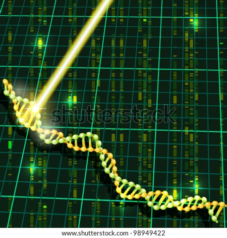 DNA research - stock vector