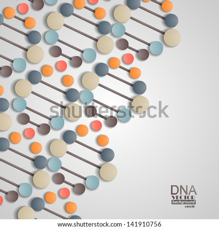 Dna spiral background - stock vector