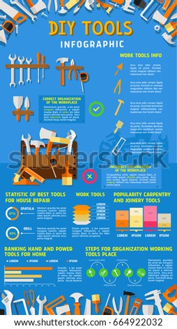 Do yourself diy work tools infographics stock photo photo vector do it yourself diy work tools infographics vector design of home repair and carpentry instruments solutioingenieria Image collections