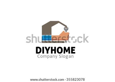 Do yourself home wrench logo symbol stock photo photo vector do it yourself home wrench logo symbol design illustration solutioingenieria Gallery