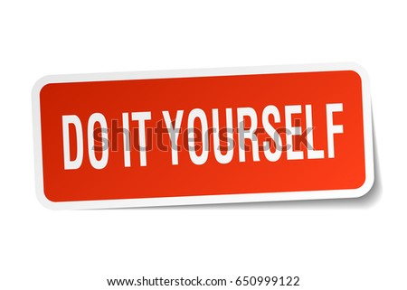 Do it yourself stock images royalty free images vectors do it yourself square sticker on white solutioingenieria Image collections