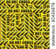 do not cross inscription tape background - stock vector