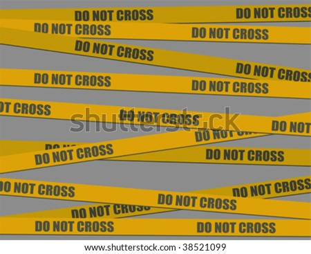 do not cross (vector)