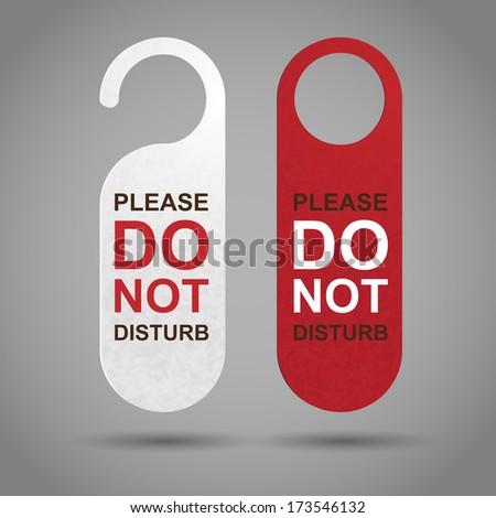 Do Not Disturb - stock vector