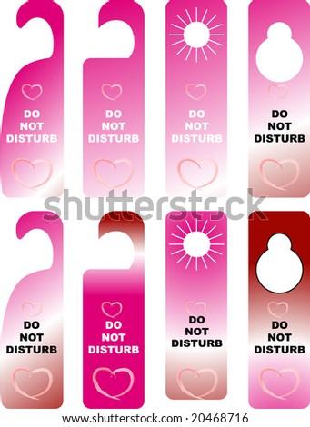 do not disturb card - stock vector