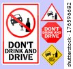 Do not drink and drive - stock vector