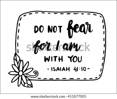 Do Not Fear You Quote On Stock Vector   Shutterstock
