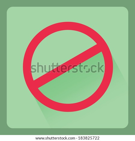 Do not sign  flat icons with shadow effect,vector design - stock vector