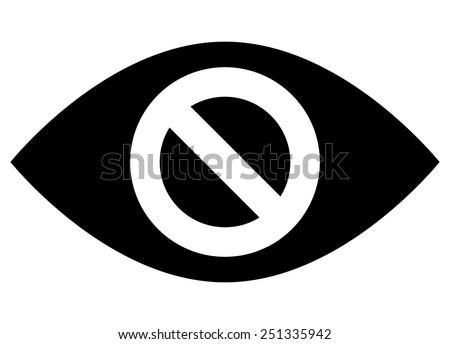 Do not spy icon - stock vector