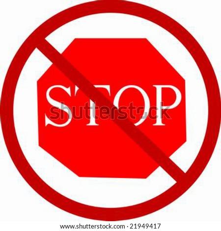 Do not stop! vector illustration - stock vector