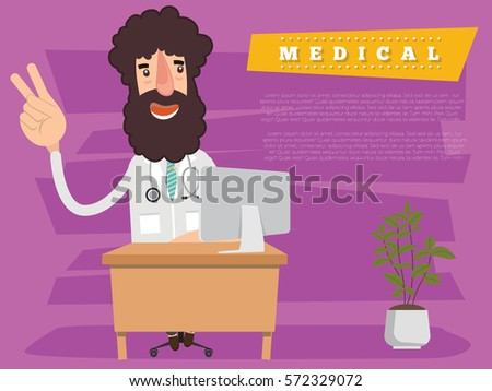 Doctor and medical concept design,clean vector