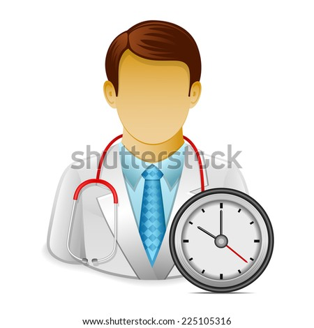 Doctor appointment - stock vector