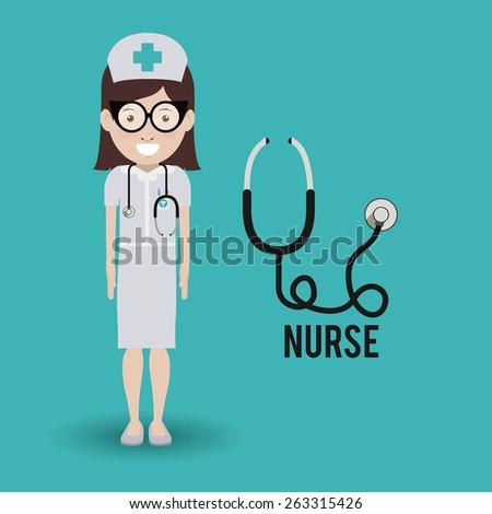 Doctor  design over blue background, vector illustration - stock vector