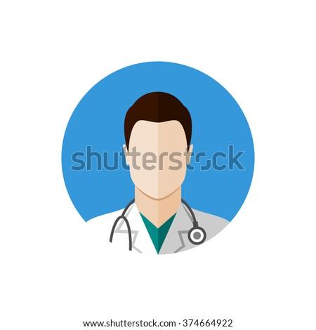 Doctor icon avatar. Flat style design - stock vector