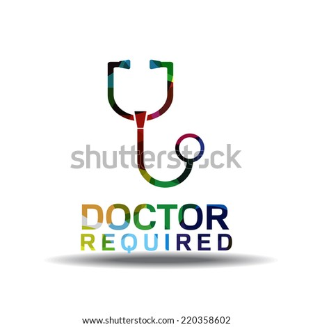 Doctor Required Colorful Vector Icon Design Stock Vector