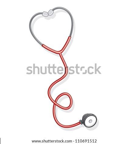 Doctor's stethoscope - stock vector