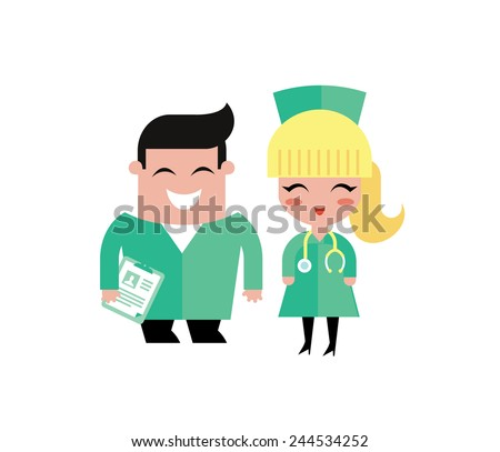 doctors illustration - stock vector