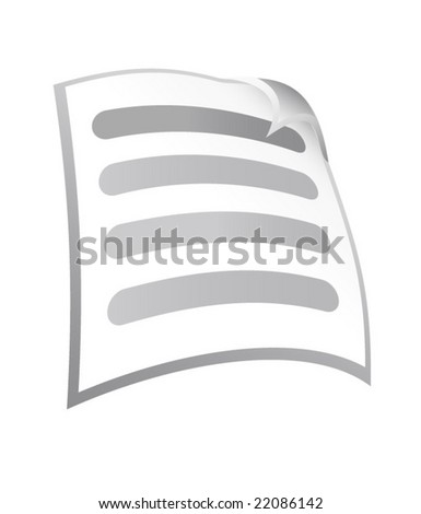 Document - stock vector