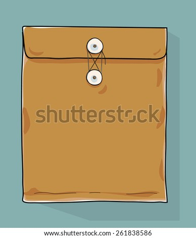 document Envelope hand drawn  - stock vector